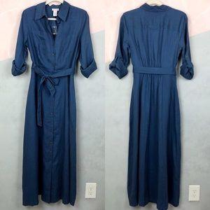 NWOT Soft Surroundings Linen Maxi Dress